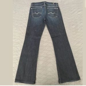 """7 for all mankind Bootcut Jeans Size 28 29"""" inseam"""